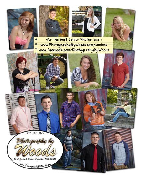 Many seniors that were photographed by Photography by Woods