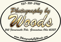 photography by Woods Germantown logo including business name, address, web address and phone number
